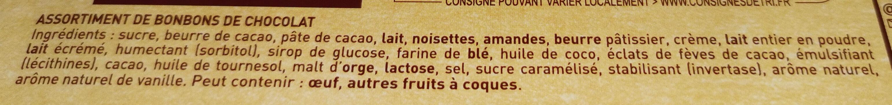 les gourmands noir & lait - Ingrediënten - fr