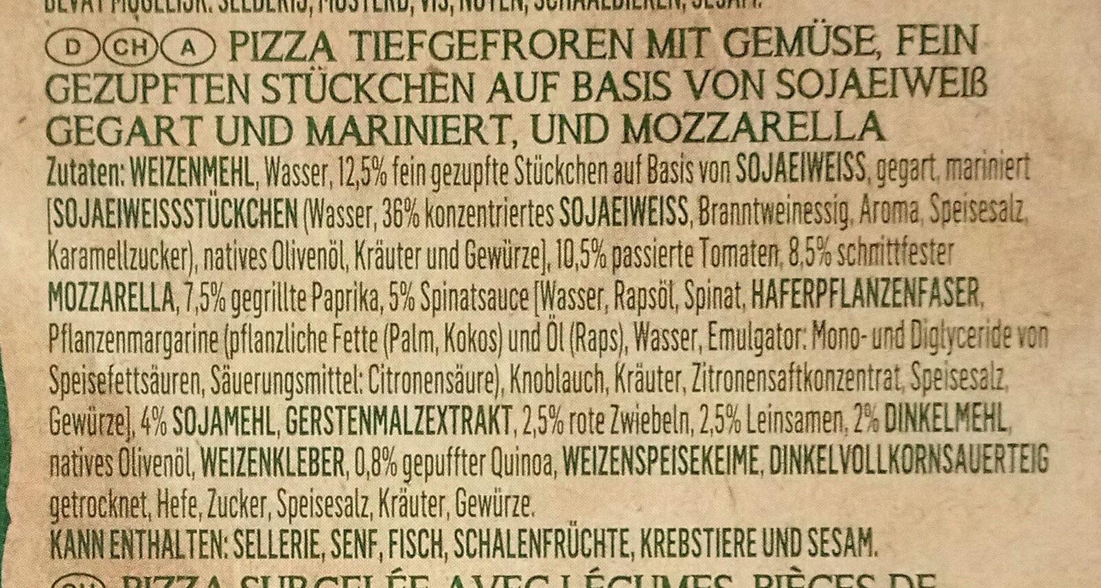 Protein Lovers Pizza - Ingrédients - de