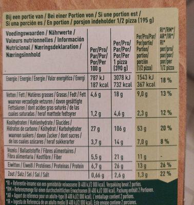 Hummus lovers pizza - Nährwertangaben - de