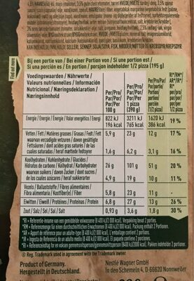 Hummus lovers pizza - Nutrition facts - fr