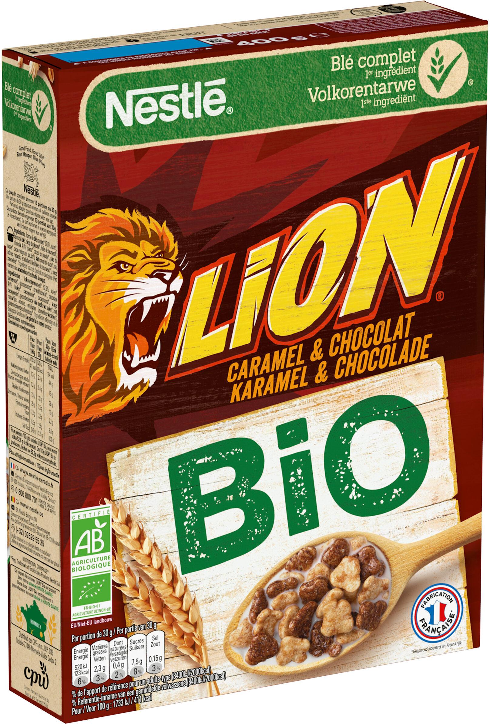NESTLE LION Céréales caramel chocolat bio - Product - fr