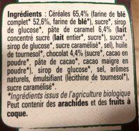 NESTLE LION Céréales caramel chocolat bio - Ingredients - fr