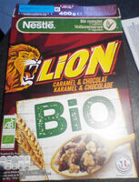 NESTLE LION Céréales caramel chocolat bio - Recycling instructions and/or packaging information - fr