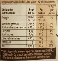 Bouillon Bio tomates et vermicelles - Valori nutrizionali - fr