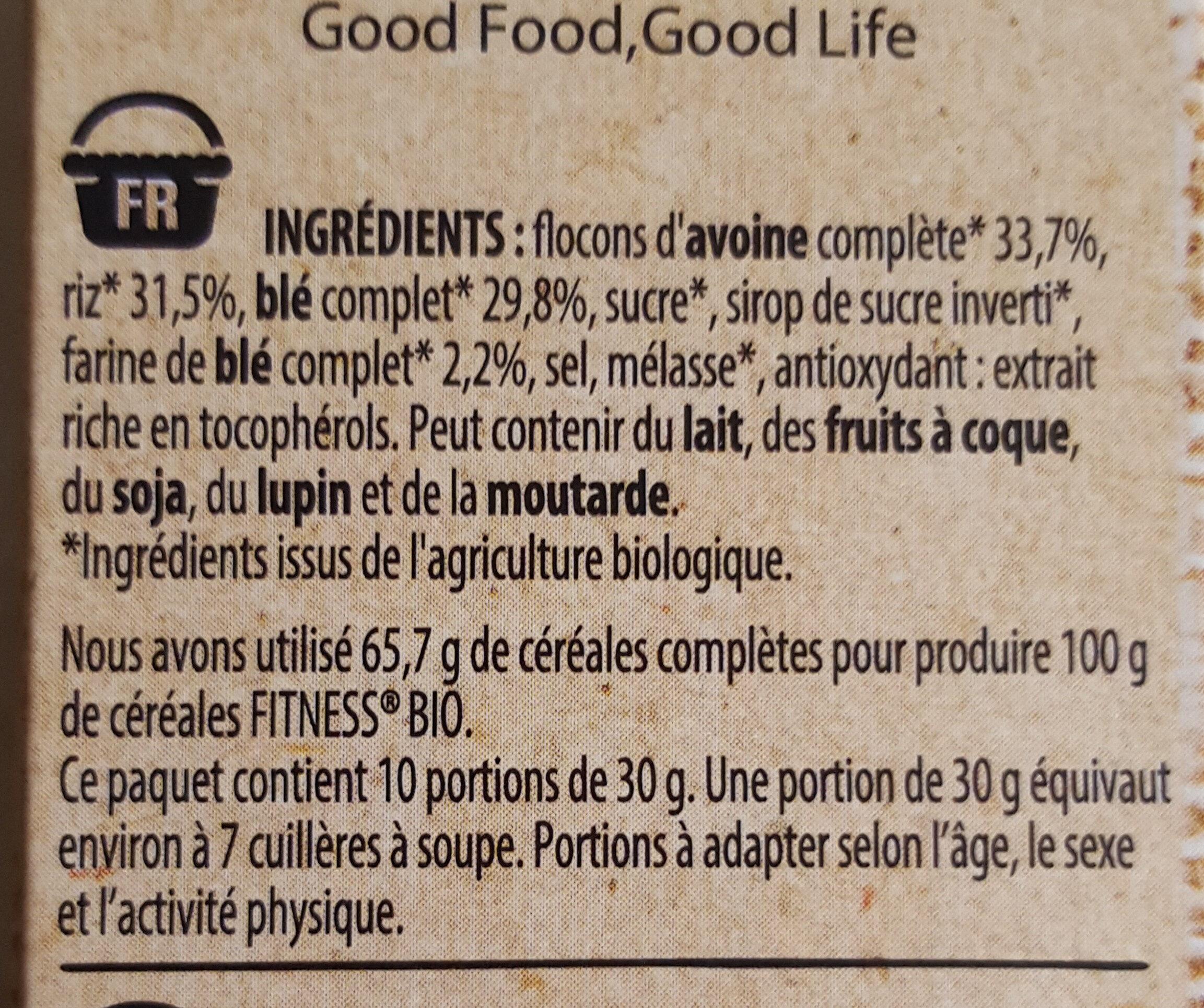 Fitness bio avoine - Ingredients - fr
