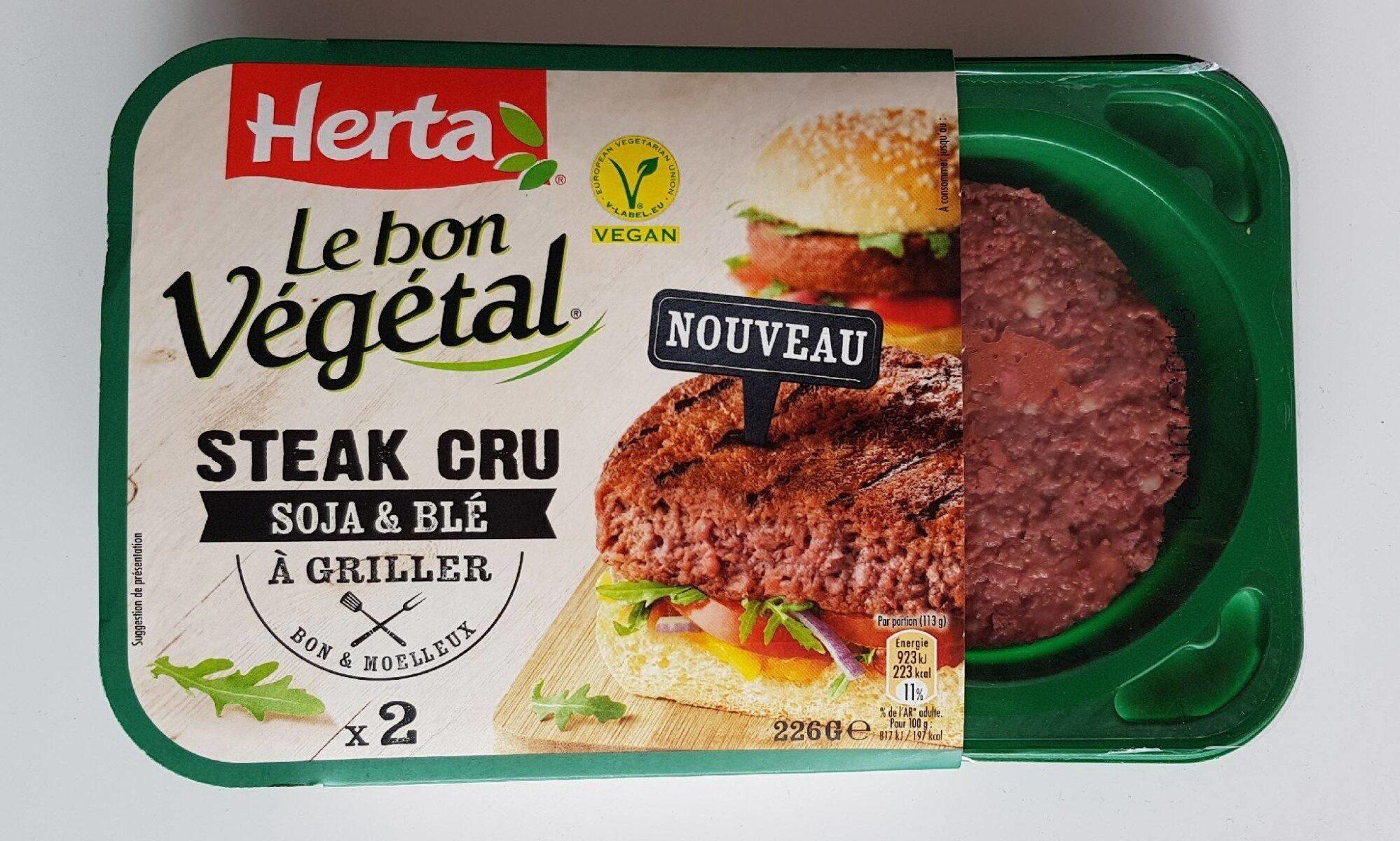 Le bon Végétal Steak cru Soja & Blé - Producto