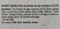 Le bon Végétal Steak cru Soja & Blé - Ingredientes