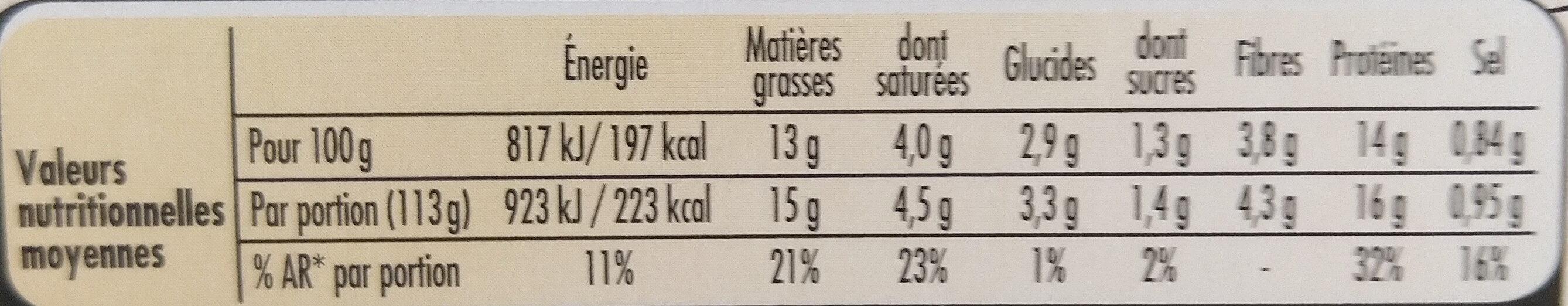 Le bon Végétal Steak cru Soja & Blé - Información nutricional