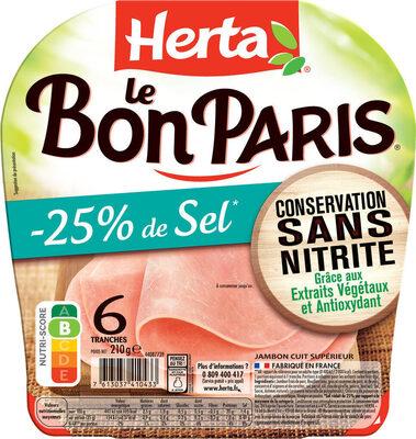 LE BON PARIS jambon sel réduit cons.ss nitrite - Prodotto - fr