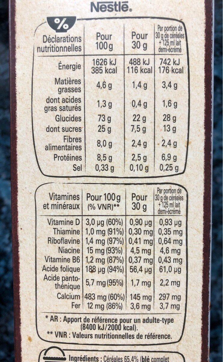NESTLE CHOCAPIC Céréales 645g PRIX CHOC - Informazioni nutrizionali - fr