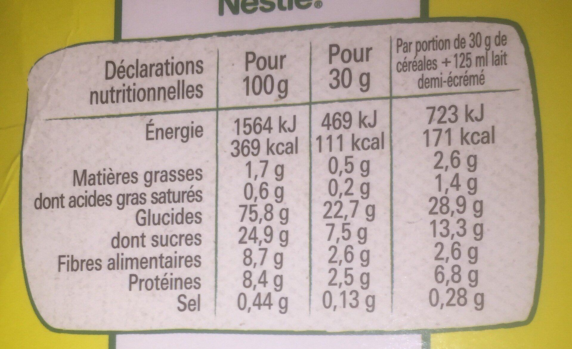 NESTLE NESQUIK Céréales Petit Déjeuner 950g PRIX CHOC - Nutrition facts - fr