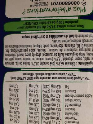Crunch - Ingredients - fr