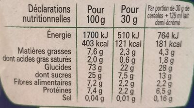 Crunch - Nutrition facts - fr