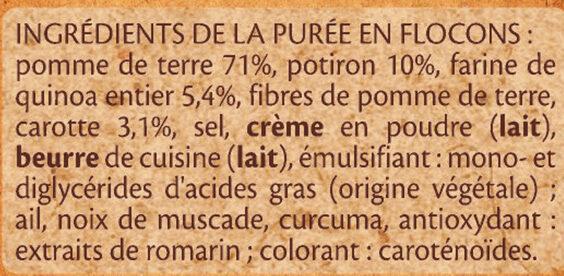 Purée Potiron & Pomme de terre - Ingrédients - fr