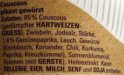 Couscous - würzig-pikant - Inhaltsstoffe - de