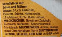 Kartoffelbrei mit Erbsen & Möhren - Ingrédients - de