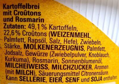 Kartoffelbrei mit Rosmarin und Croûtons - Ingrédients - de