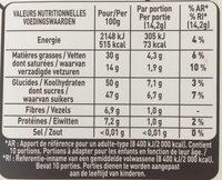 Chocolat noir extra-fin fourré à la pâte d'amande - Valori nutrizionali - fr