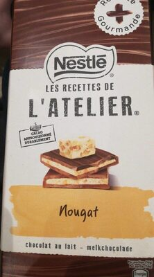 Chocolat au lait nougat - Produit - fr
