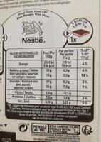 Chocolat au lait nougat - Informations nutritionnelles - fr