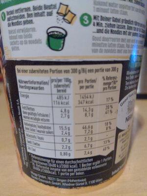 Saucy Noodles - Nutrition facts - de