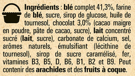 NESTLE LION Chocolat & Caramel Céréales - Ingredienti - fr