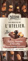 Chocolat raisins, amandes et noisettes Chocolat noir - Product - fr