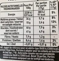 L'ATELIER Chocolat noir raisin nois.amandes - Valori nutrizionali - fr