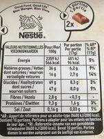 Noisettes entière torréfiées Chocolat au lait - Informations nutritionnelles - fr
