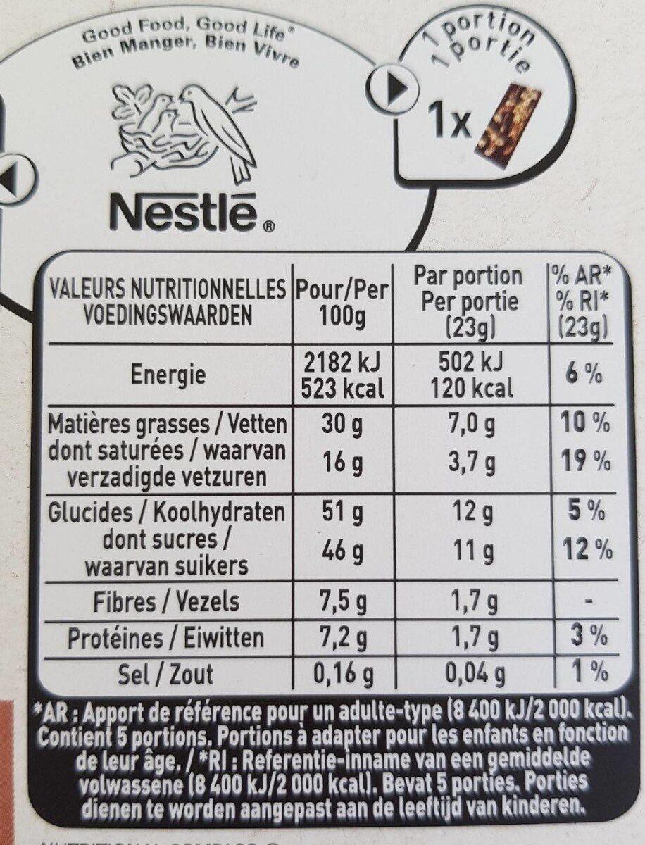L'ATELIER chocolat noir pomme caramel - Valori nutrizionali - fr
