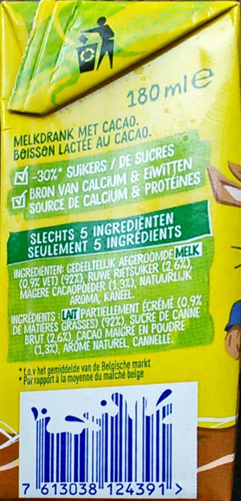 Boisson lactée au cacao - Ingrediënten - fr