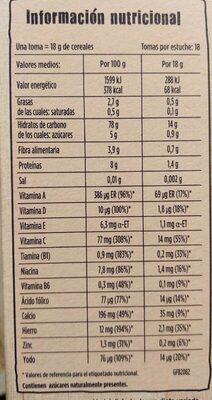 Multicereales para bebés - Informations nutritionnelles - es