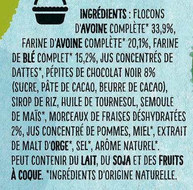 NESTLE NAT Chocolat et Fraises céréales - Ingrédients - fr