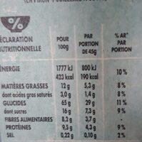 NESTLE NAT Chocolat et Fraises céréales - Informations nutritionnelles - fr