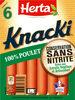 KNACKI POULET conservation sans nitrite - Produit