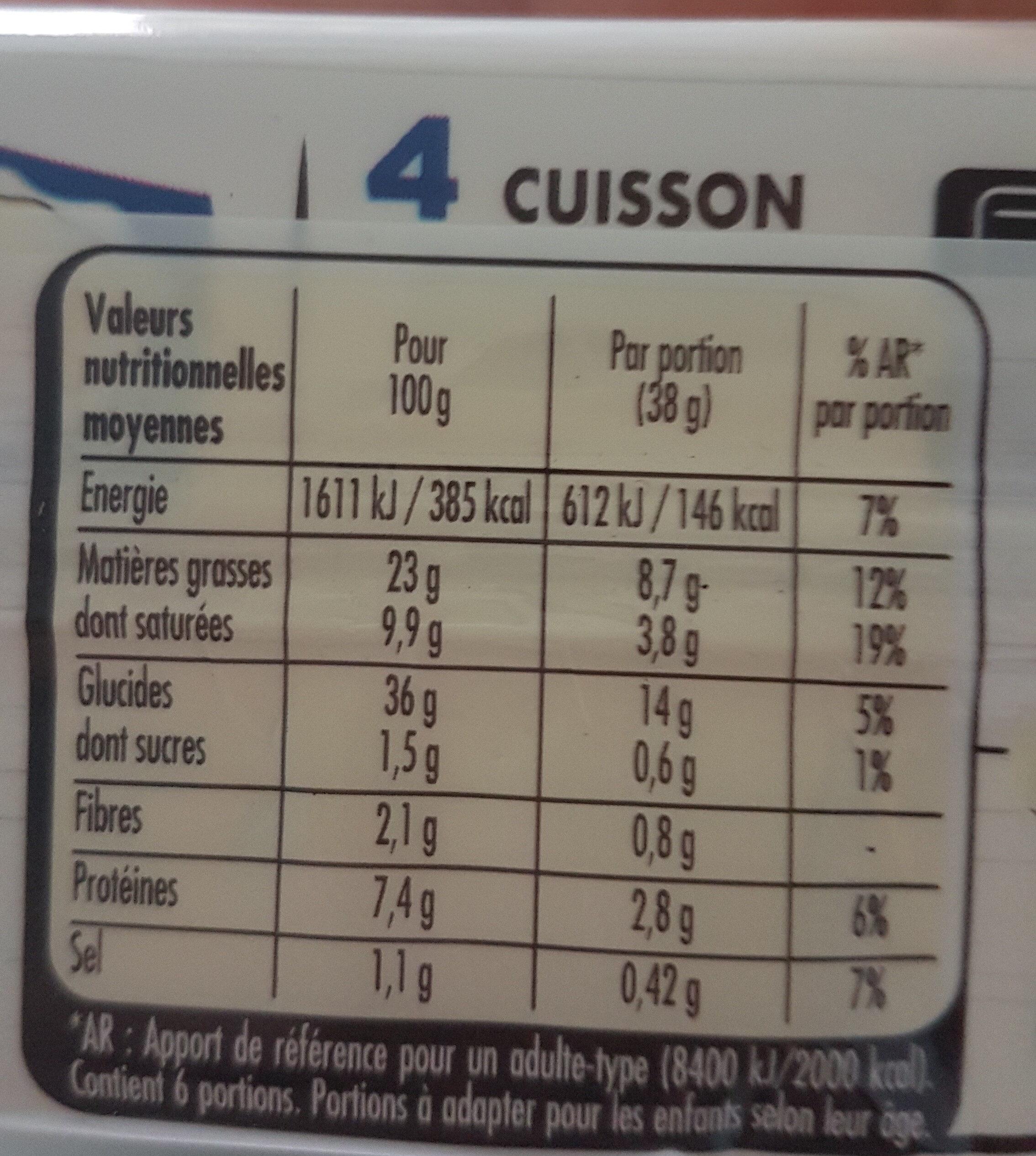 Pâte feuilleutée - Ingrédients - fr