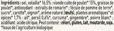 MAGGI Bouillon Poudre Volaille BIO - Ingrediënten - fr