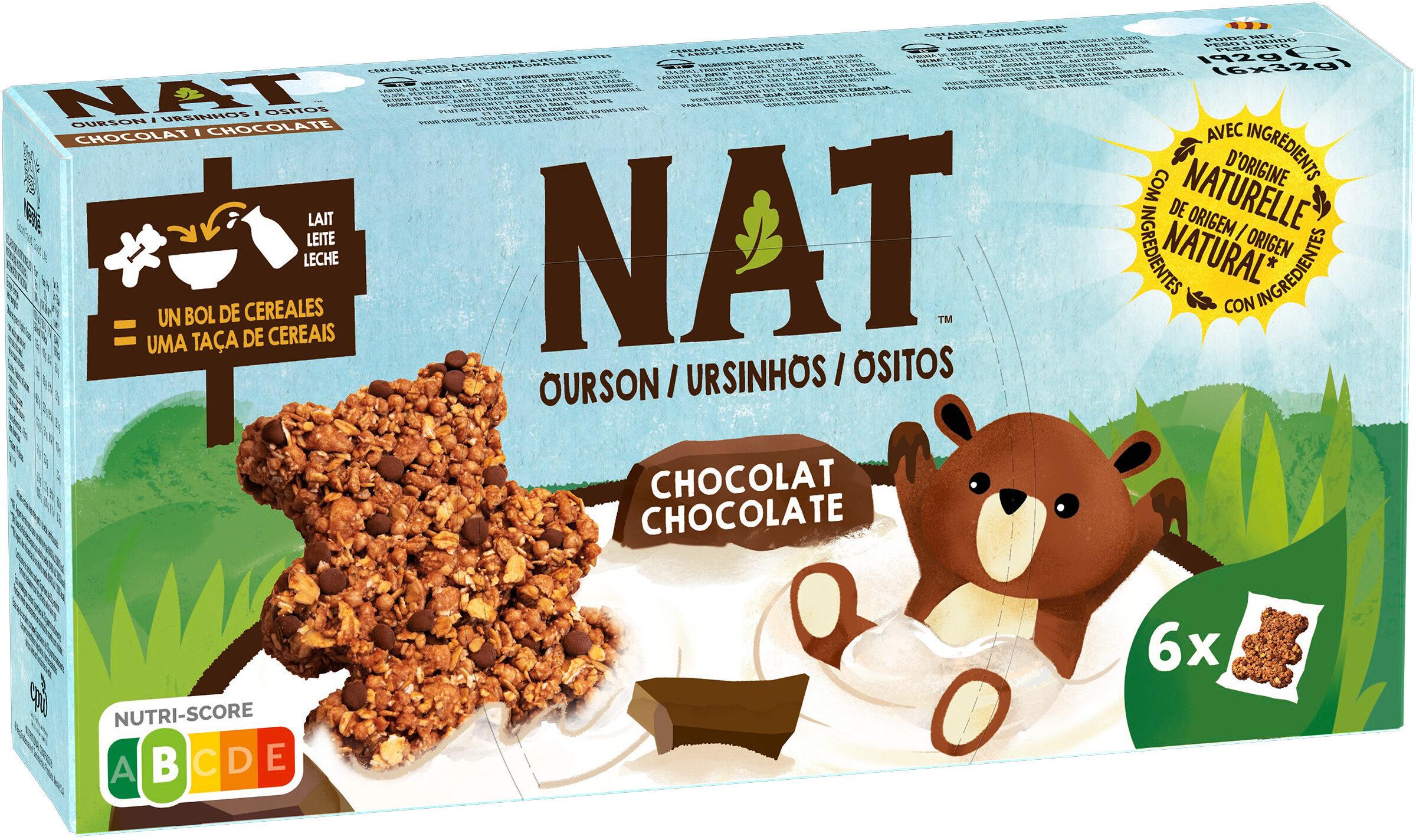 NESTLE NAT Ourson Chocolat 6x32g - Produit - fr
