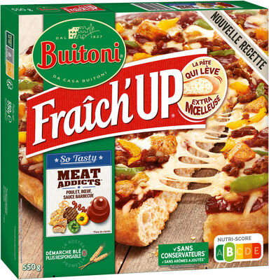 BUITONI FRAICH'UP SO TASTY pizza surgelée Meat Addicts - Produit - fr