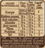 Noir BIO - Informations nutritionnelles - fr