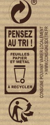 Noir BIO - Instruction de recyclage et/ou informations d'emballage - fr