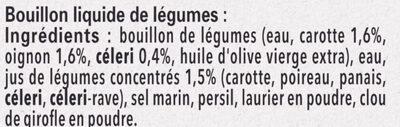 MAGGI Le Bouillon Liquide Légumes - Ingrédients - fr