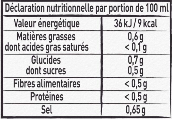 MAGGI Le Bouillon Liquide Légumes - Valori nutrizionali - fr