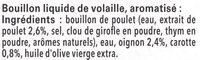 MAGGI Le Bouillon Liquide Volaille - Ingredienti - fr