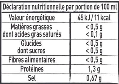 MAGGI Le Bouillon Liquide Volaille - Valori nutrizionali - fr