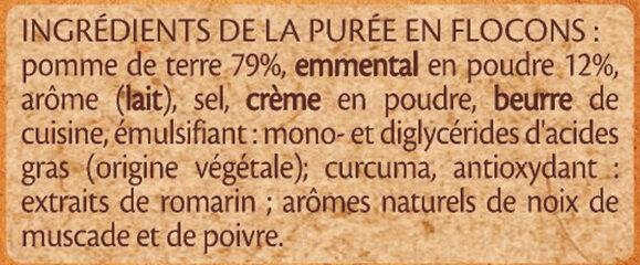 MOUSLINE Purée Emmental - Ingrédients - fr