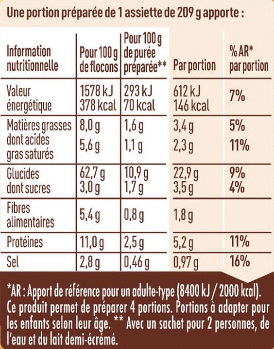MOUSLINE Purée Emmental - Informations nutritionnelles - fr