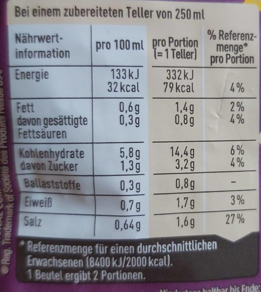Thalia kokos suppe - Nährwertangaben - de