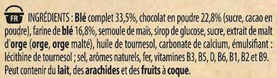 NESTLE MINI CHOCAPIC Céréales Petit Déjeuner 6x30g - Ingredients - fr