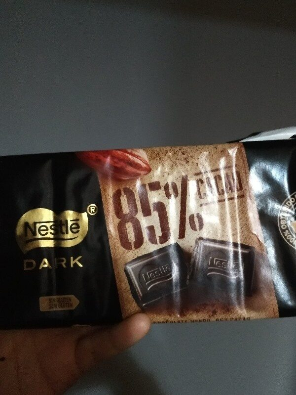 Nestle Dark 85 % cacao - Ingredients - es